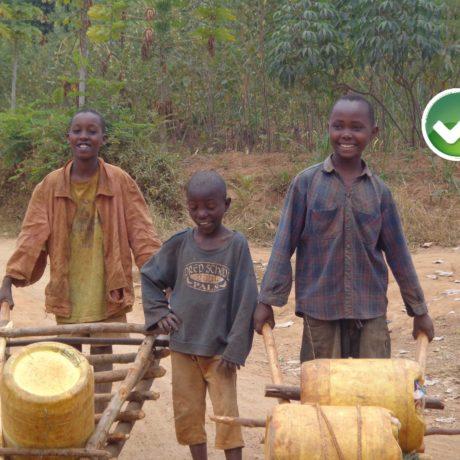 Perforación de un pozo de agua potable