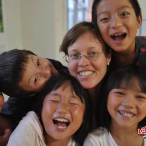 Nens somrients i Monica