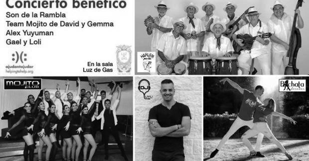 Fiesta solidaria con música salsa y baile